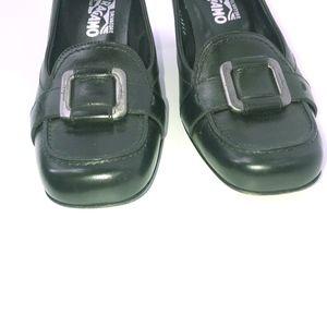 Salvatore Ferragamo Shoes - Salvatore Ferragamo Leather Buckle Block Heel